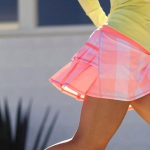 Rare!!🍋Lululemon Pace Setter Skirt Gros Gingham!